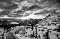 Donner Summit Sunrise (B+W)
